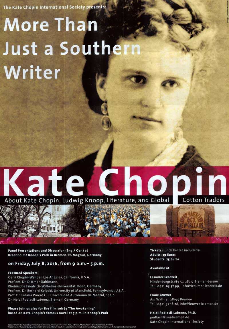 kate chopin Kate chopin's 1899 novel, the awakening     has become a classic text of american literature much admired for its complex portrayal of the experience of a married woman at the end of the nineteenth century as well as for its deft and allusive style, the awakening continues to attract readers and critics.