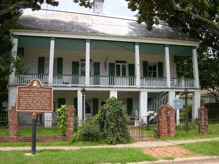 The Bayou Folk Museum/Kate Chopin House before it burned in 2008