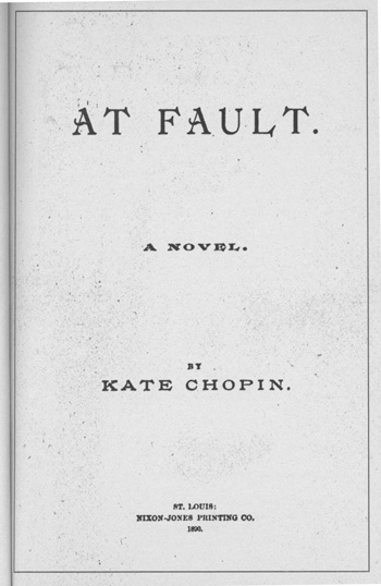 A Brief Note On Kate Chopin 's ' Chopin '