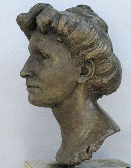 bust side view